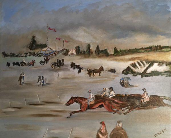 Peinture Un Dimanche aux Courses