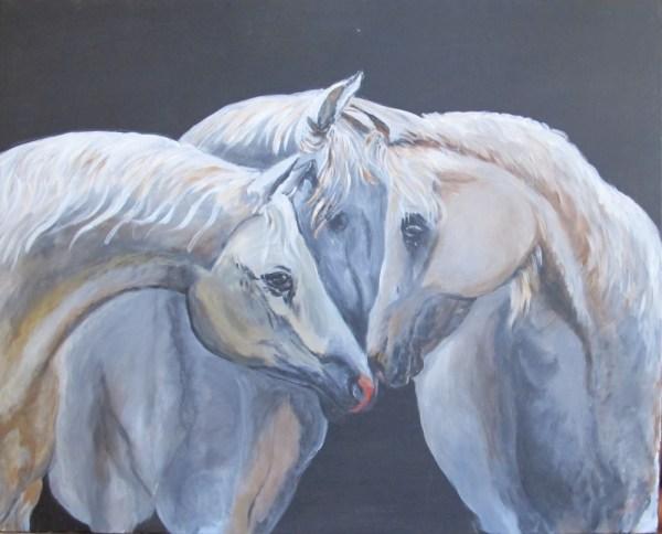 Peinture Triangle Amoureux - Mérèse
