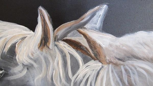 Peinture Triangle Amoureux Détail - Mérèse
