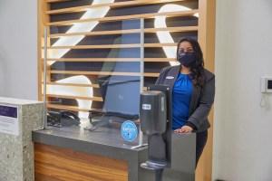 Hotel Associate wearing mask
