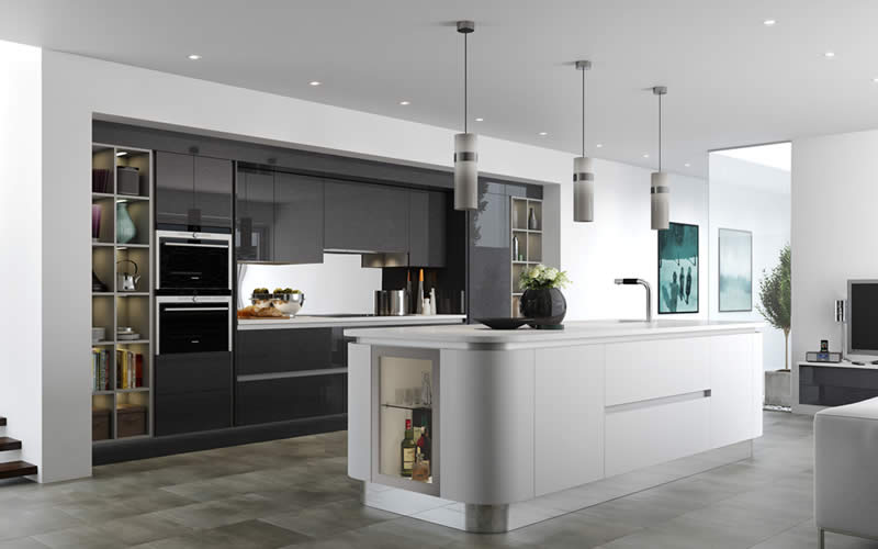 Futura True Handleless Mereway Kitchens