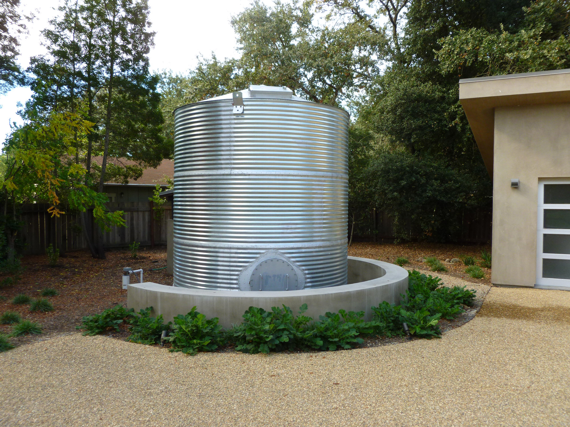 corrugated steel water tank