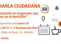 Cs Mérida organiza una charla-debate sobre cómo actuar con menores ante una emergencia en el hogar