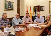 Rodríguez Osuna recibe a los empresarios emeritenses que integran la Cámara de Comercio de Badajoz