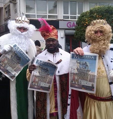 Orden de las carrozas en la Cabalgata de Reyes 2017 de Mérida