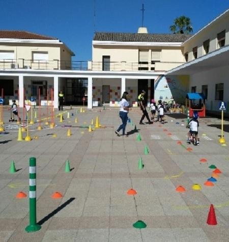 Unos 1.400 alumnos han pasado por el Centro de Educación Vial de Mérida, en lo que va de año