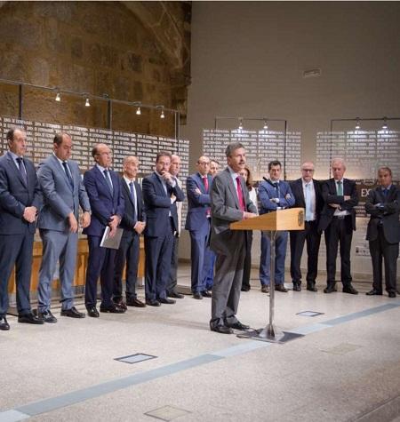 Se firma en Mérida un convenio de colaboración con trece entidades financieras para impulsar la financiación empresarial