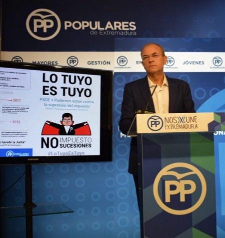 El PP lanza una campaña para suprimir el impuesto de sucesiones y donaciones