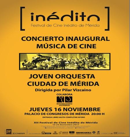 Cerca de 300 jóvenes compartirán escenario en el concierto inaugural del XII Festival de Cine Inédito de Mérida