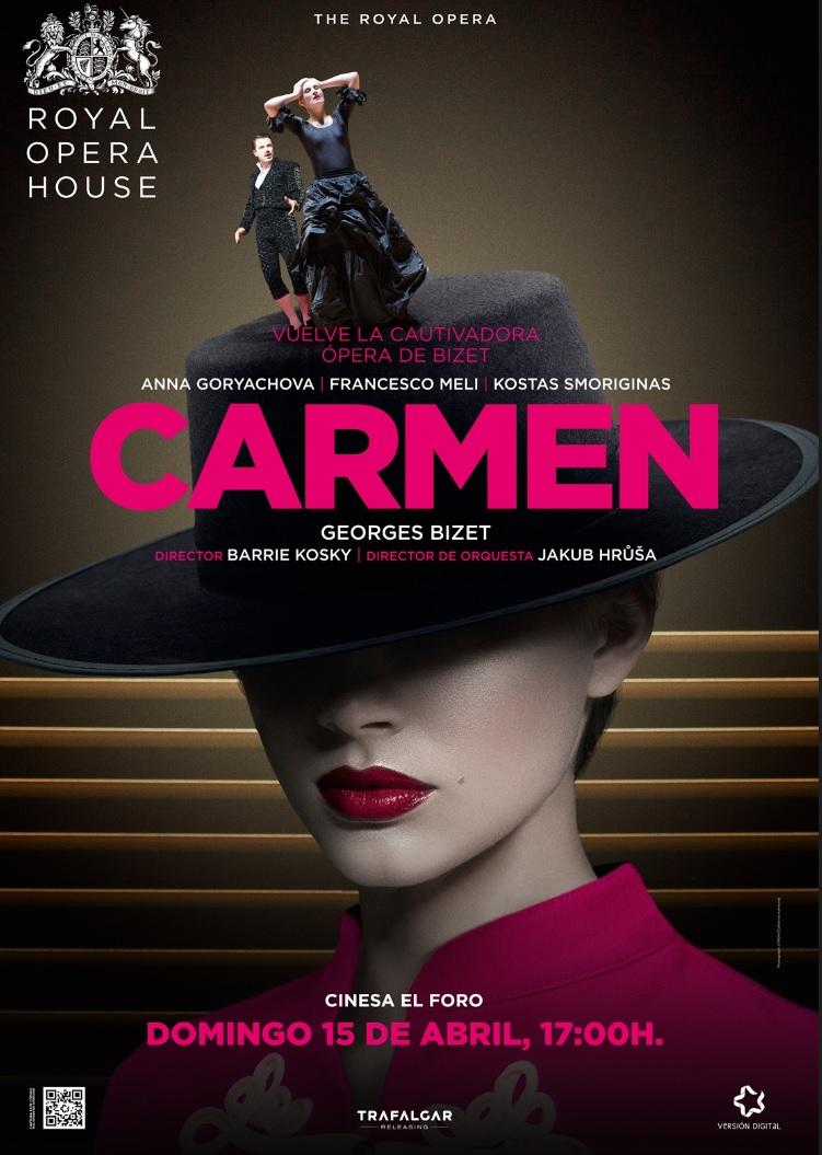 La ópera CARMEN desde la Royal Ópera House, este domingo en Cinesa El Foro de Mérida