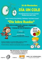 'DÍA SIN COLE', este lunes 26 de noviembre, en el Velódromo Municipal y la Factoría Joven de Mérida