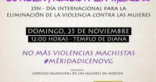 25 de noviembre, concentración en Mérida con motivo delDía Internacional contra la Violencia de Género