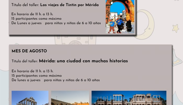 Disfrutar Mérida a través de la lectura objetivo de las actividades infantiles del verano