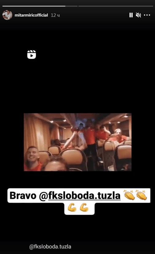 Mirić, Igrači Slobode slavili pobjedu uz pjesmu Mitra Mirića, poznati pjevač se oglasio i poslao poruku (VIDEO)