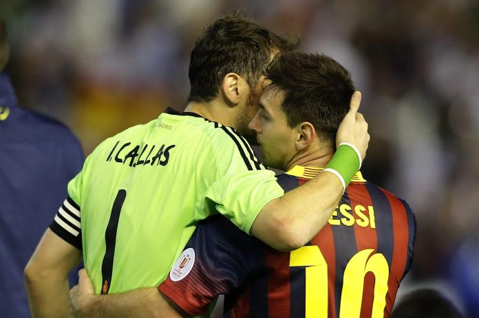 Iker Casillas, LIONEL MESSI SE DESPIDIÓ DE IKER CASILLAS