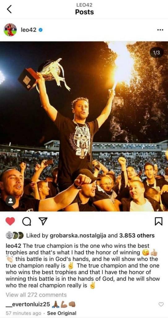TRANSFER BOMBA ILI? Leonardo raspalio maštu navijača Partizana (FOTO)