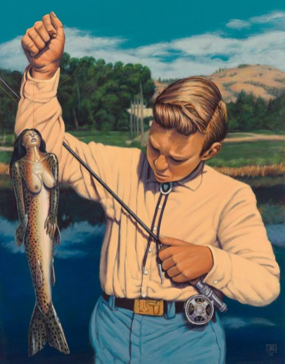 Catch of the Day by Jeff Jordan, Limited Edition print from original acrylic painting.