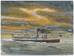 John A. Doerner – City of Topeka. Jack London once served aboard the City of Topeka as an able bodied seaman on a voyage to Alaska. This ship of 1057 tons was built at Chester Pennsylvania in 1884 and served along the Pacific Northwest until scrapped in 1933.