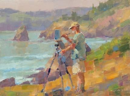 Jim McVicker, John Crater Painting Trinidad, 9x12, oil on panel.