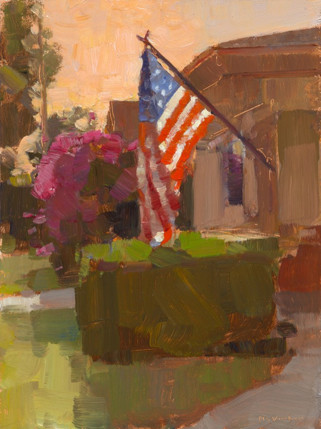 Labor Day, 2011, oil on panel, 12 x 9.