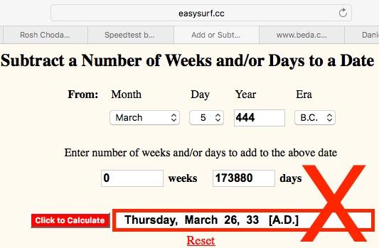 Calendar Count Error