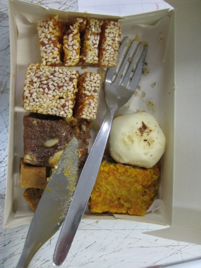 A selection of the mithai used for tastings