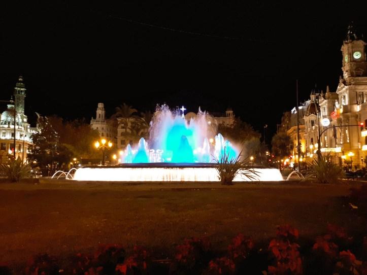 Valencia -Plaza Ayuntamiento - by night - 1