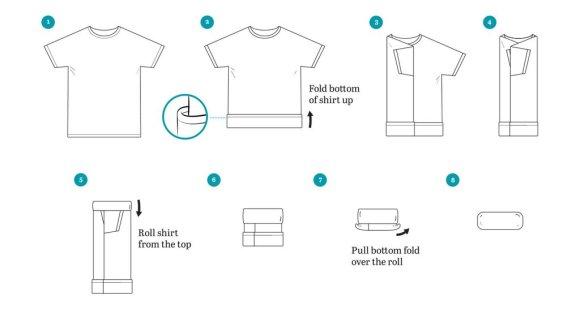 How to Fold a Merino Wool T-Shirt