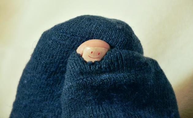 Hole in sock