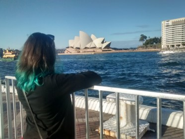 Overlooking the Sydney Opera House (photo credit E.Cancellier)