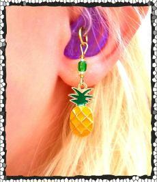 Pineapple Hearing aid charm
