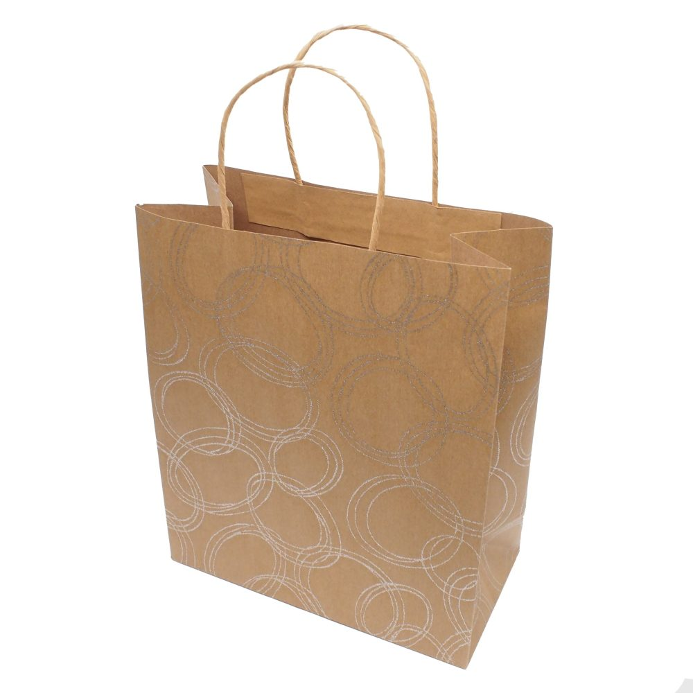 Kraft Paper Carrier Bag with Paper Cord