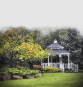 Gazebo Green background