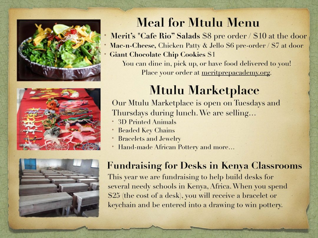 meal for mutulu Africa fundraiser flyer
