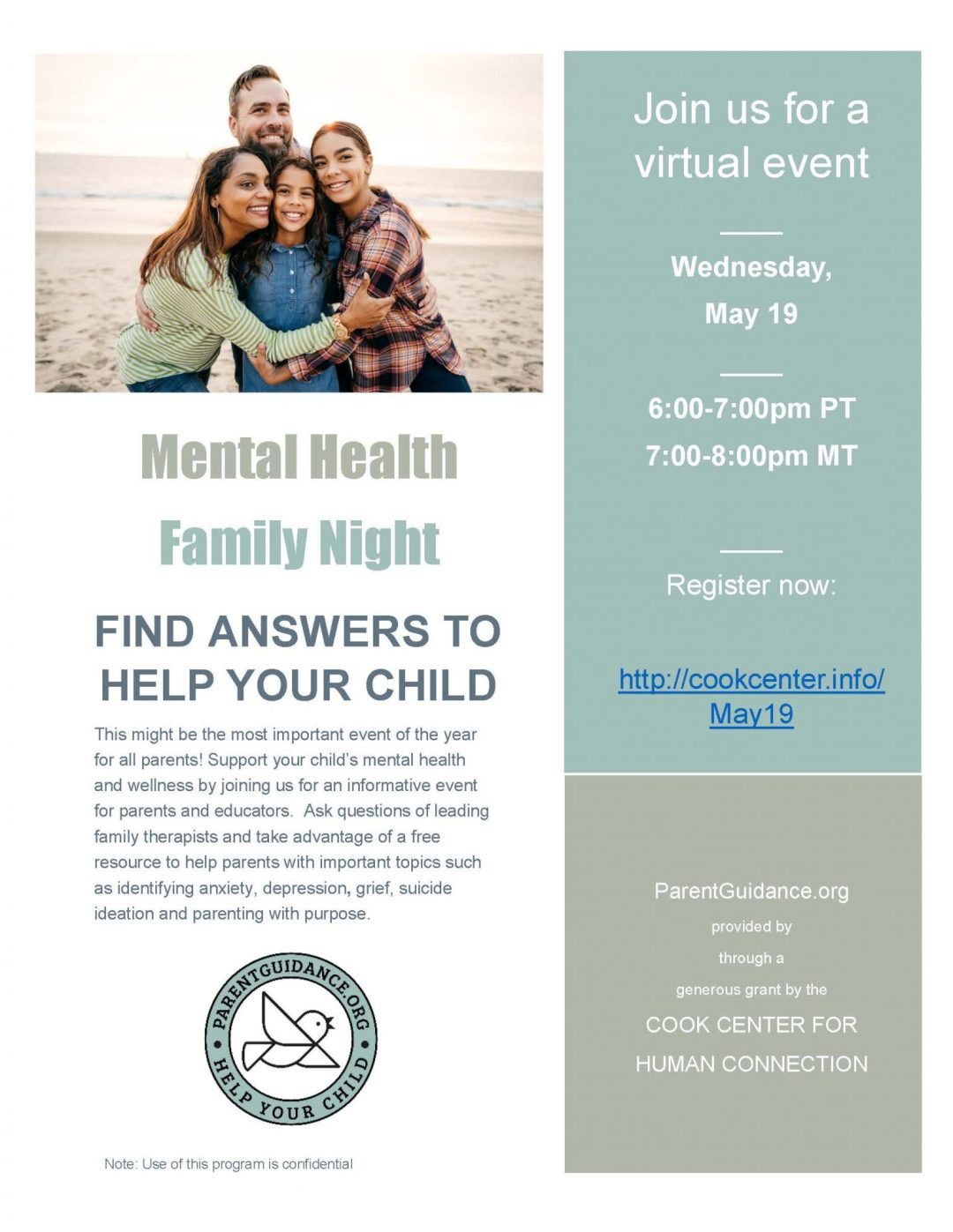counseling help flyer
