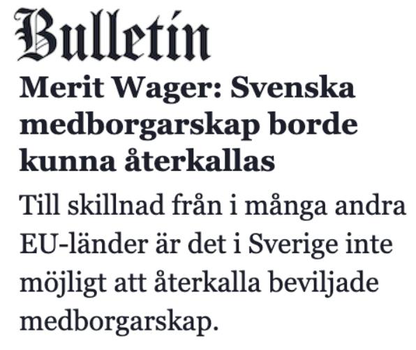 Om att ett överväldigande antal beslut gällande svenskt medborgarskap som är oåterkalleligt, fattas genom enmansbeslut av personer som inte är säkerhetsklassade