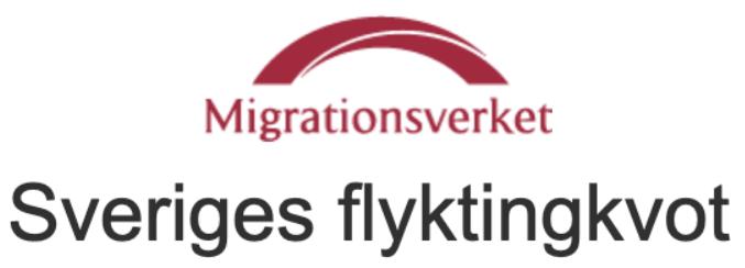 Migrationsverket om kvotflyktingar som hämtats och ska hämtas till Sverige.