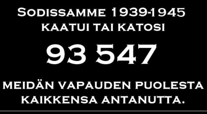Finland. De stupades dag.