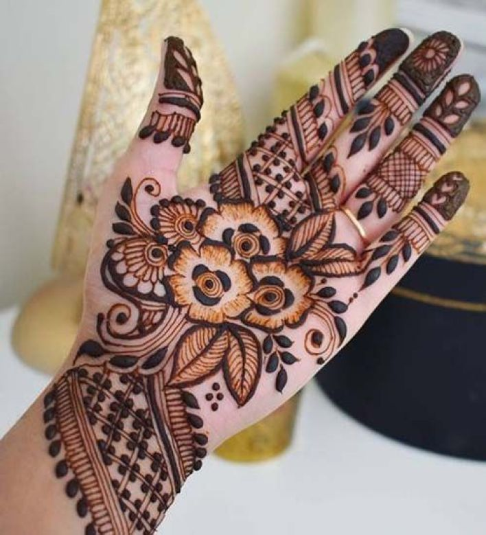 88 - Mixed-best-Arabic-mehndi-design