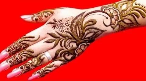 99 The Fancy Floral henna design