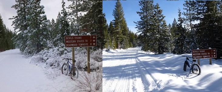 December vs. January snow