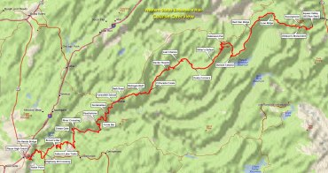 The course map. Courtesy of www.WSER.org