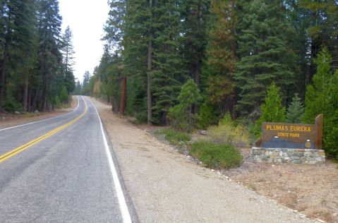 Heading up into Plumas-Eureka State Park on Johnsonville road.