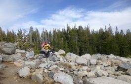 Sean on Donner Lake Rim Trail (DLRT)