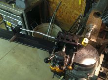 mitering a seatstay for the dropout end