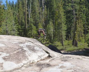 Jeff dropping in some Sierra Slickrock