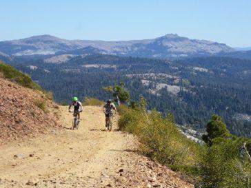 Justin and Dan finishing the Signal Peak climb, Castle Peak in background