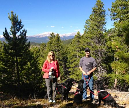 The SMRP and me and our family of dogs hiking at Curt's house. We had a ton of fun in the old hood