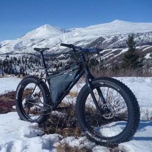 Paul's bike in the Yukon Territory somewhere