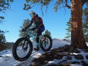 Kate on her Fatbike in Peaceful Valley
